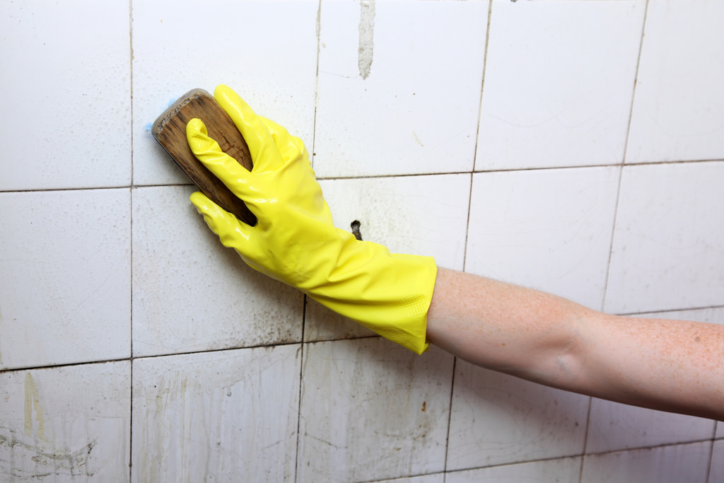 Cleaning old tile floors bathroom