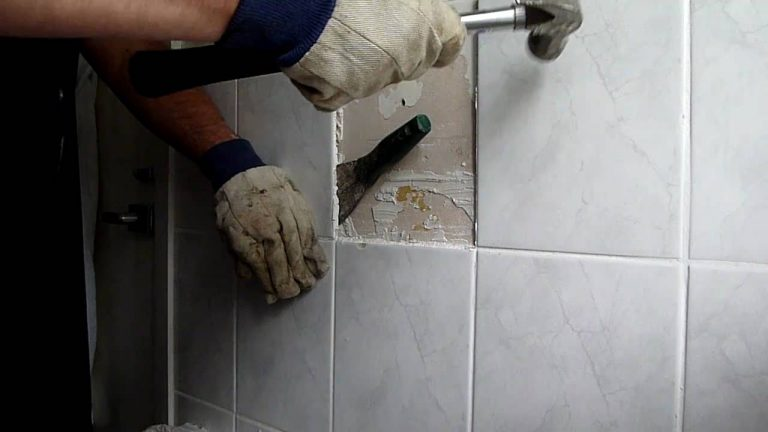 How to remove a ceramic tile floor