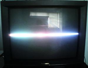 CRT TV display problem