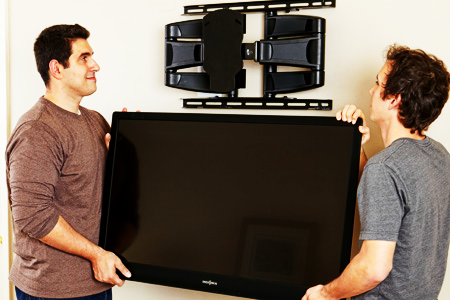 How To Hang A Tv On The Wall 3 steps of mounting flat screen television on wall - ideasmr right