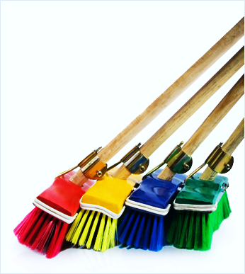Micro fiber broom for cleaning marble floor