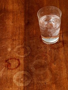 How to remove water ring from table