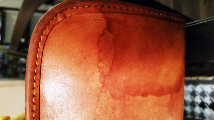 water mark on leather