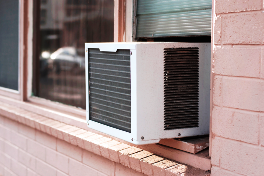 Window AC installation process