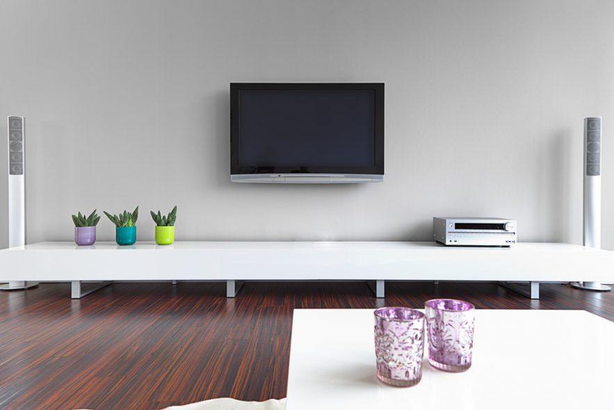 LED TV installation