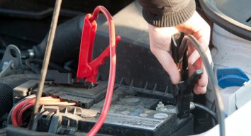 Jumper cables for starting car