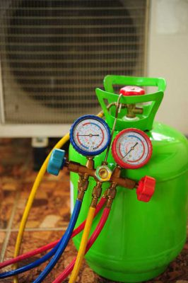 split ac gas leakage