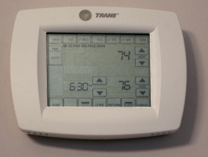 Check thermostat for AC repairs