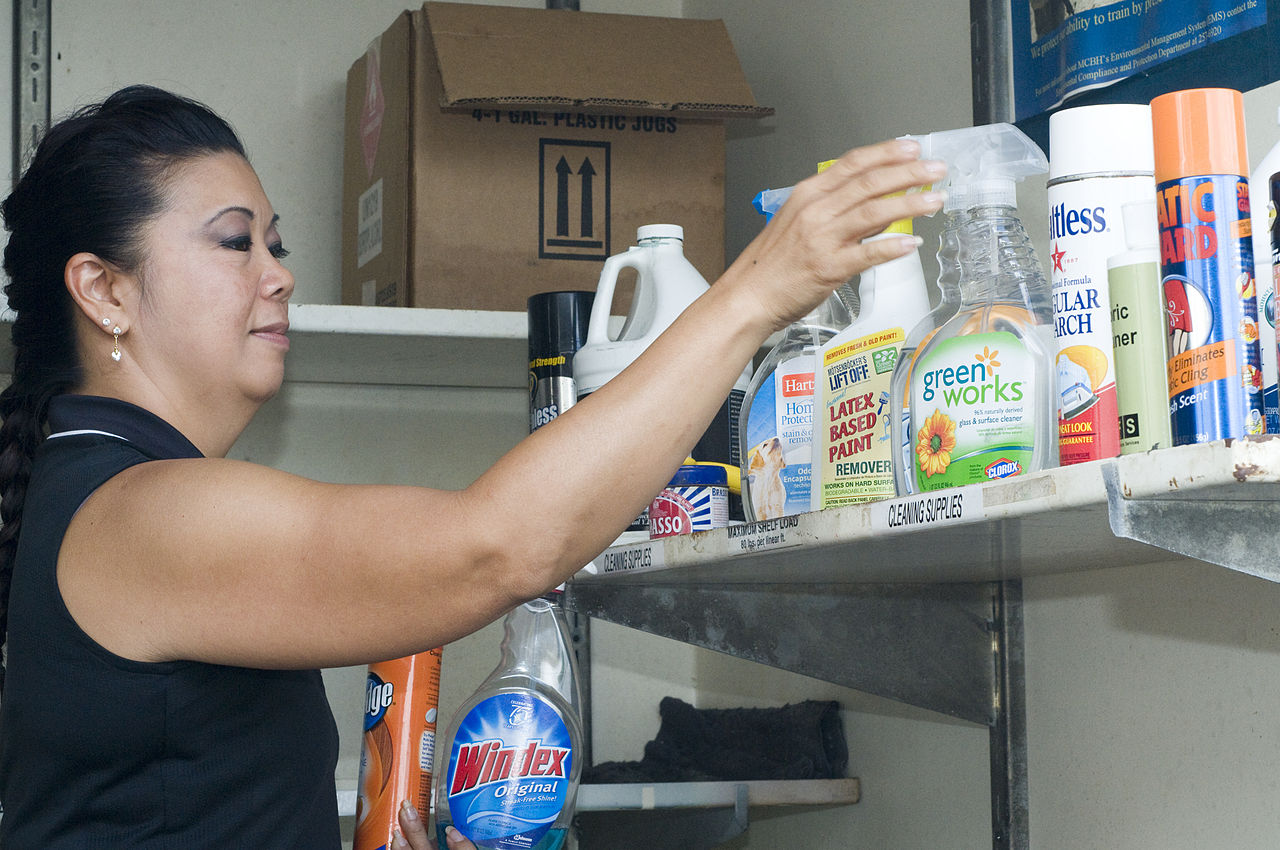 avoid using cleaners with hazardous materials