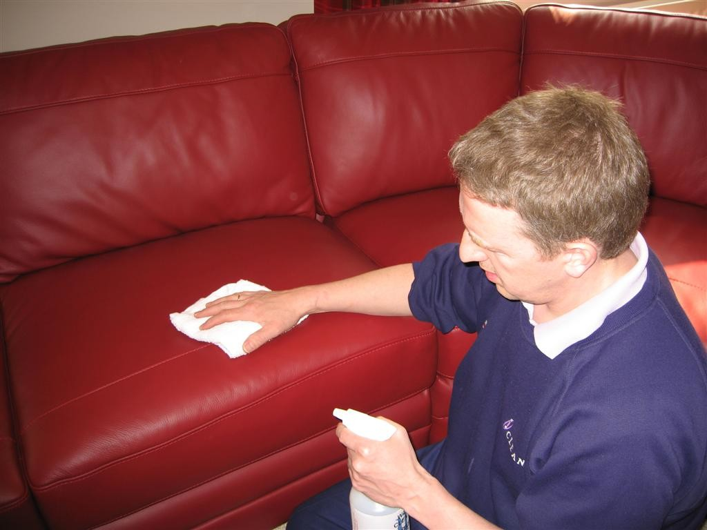 how to clean a leather sofa ideas by mr right. Black Bedroom Furniture Sets. Home Design Ideas