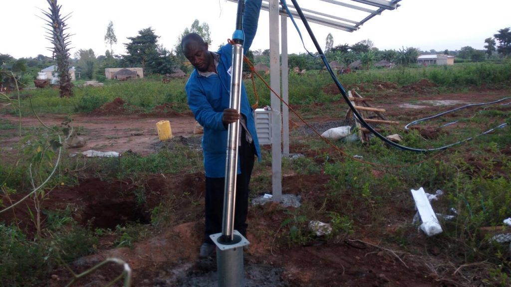 solar water pump installation