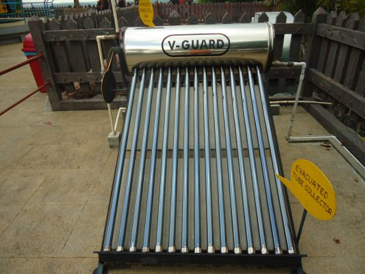 Installing solar water heater at home