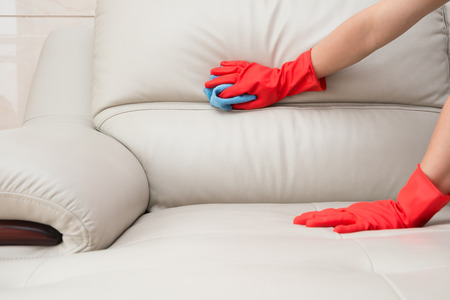 Clean stains to clean a leather sofa