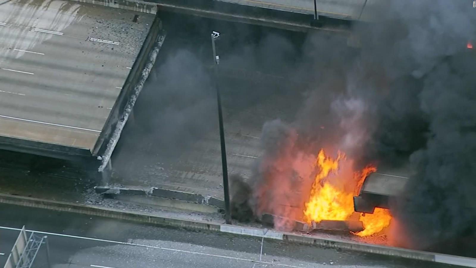 fire caught on cctv camera