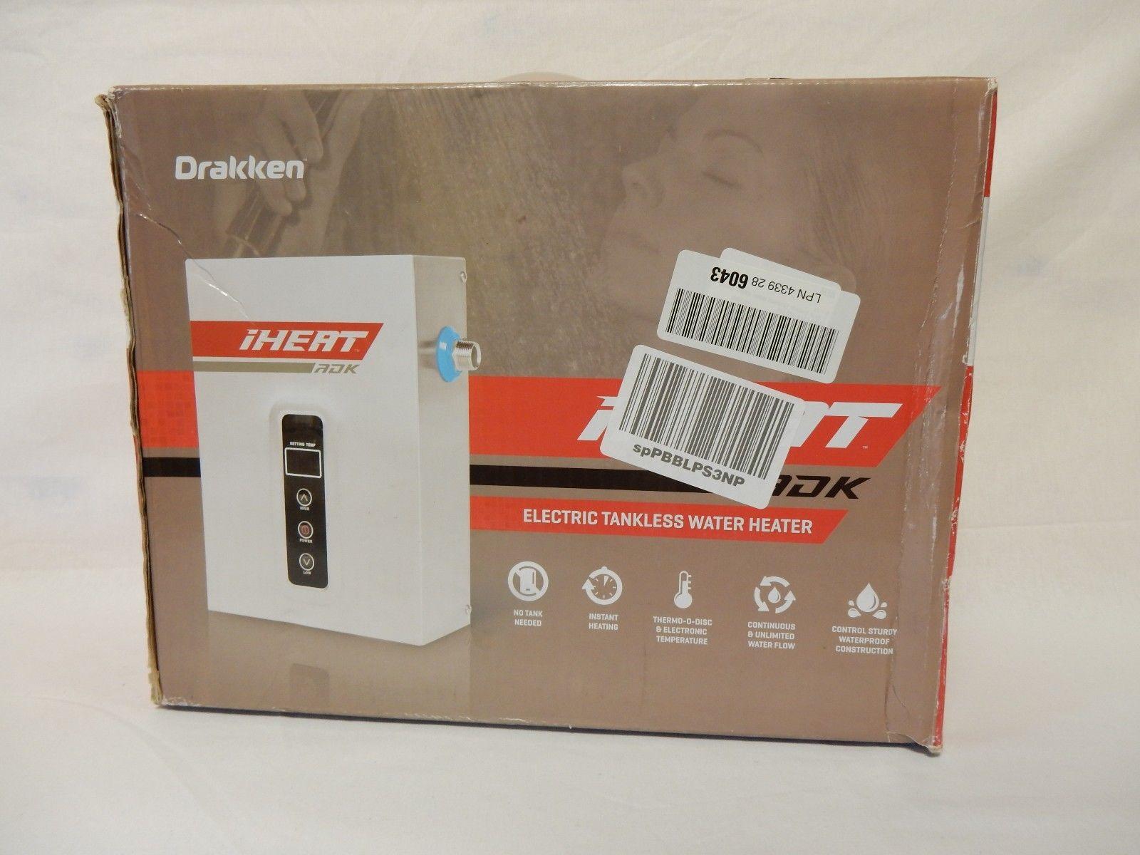tankless water heater packaging
