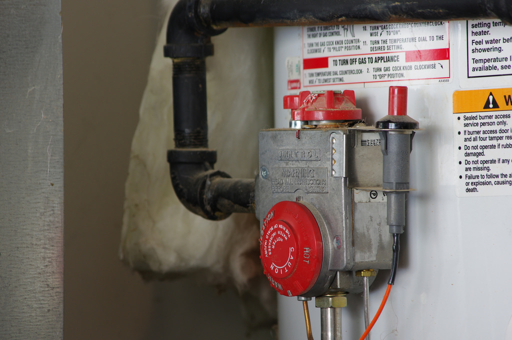 shutting off old water heater