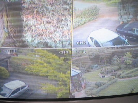 horizontal lines in CCTV feed