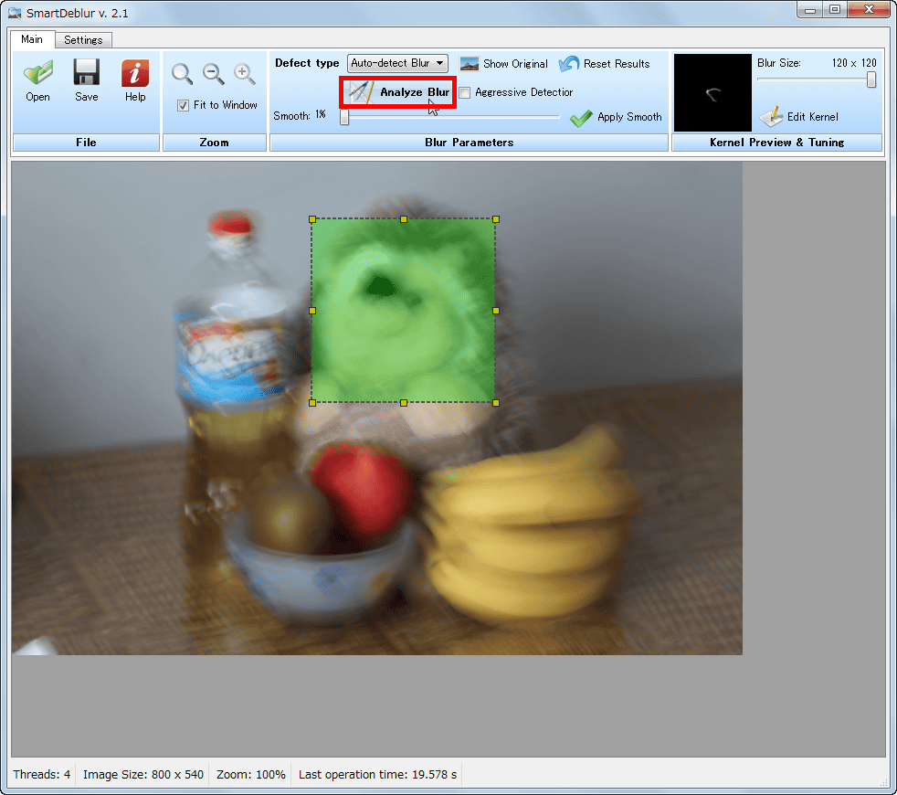 fix blurry photos through smartdeblur