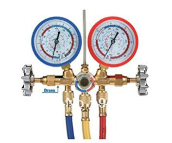 ac manifold gauge for gas refilling