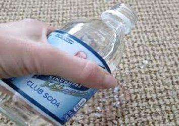 Club soda to treat carpet stain