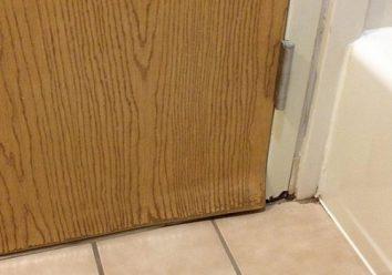 actual steps of treating a bent door