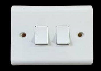 White 1 Gang 2 Way Light Switch electrical Wall socket Cover