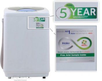 Haier automatic washing machine and how it functions