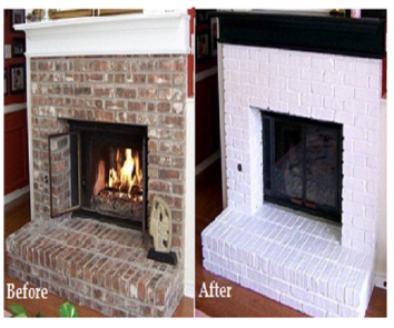 How to paint your fireplace