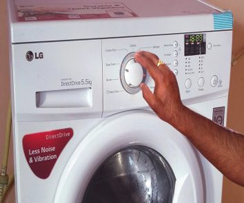 How to use LG automatic washing machine