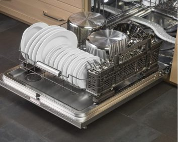 The hidden fully integrated dishwasher