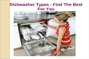 types of dishwasher