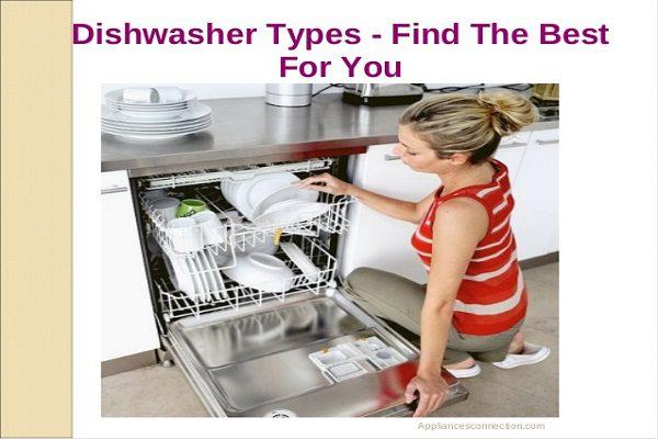 types of dishwasher