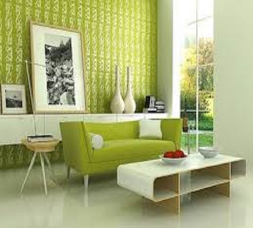 Green Is Another Colour That Goes Quite Well In The Living Room In Combination With White Ideas By Mr Right,Family House 5 Bedroom House Plans Single Story 3d