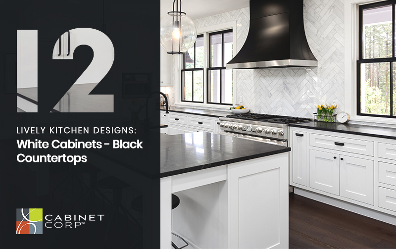 12 Lively Kitchen Designs White Cabinets Black Countertops Ideas By Mr Right