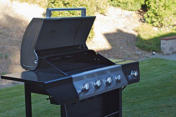 Gas barbecue in garden