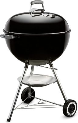 portable charcoal grill black