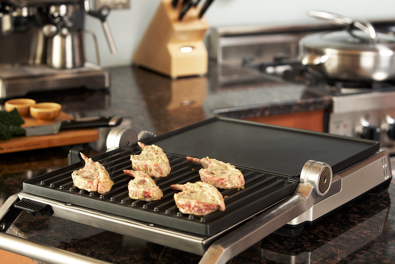 electric barbecue with chicken