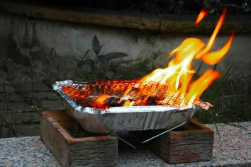disposable barbecue grilling