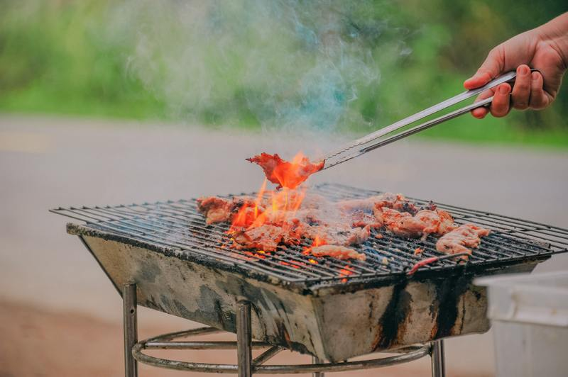 accessories with charcoal barbecue