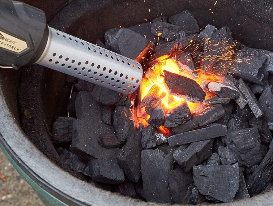 Charcoal barbecue accessories blower