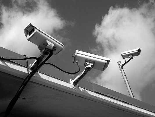 3 security cameras outside home