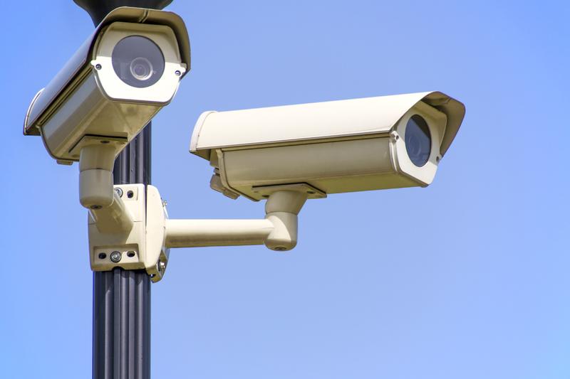 waterproof security cameras on pole