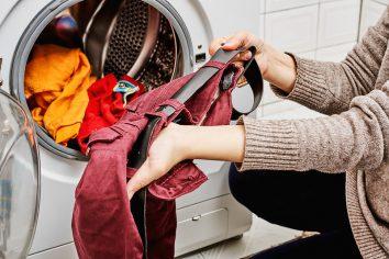 Washing clothes with detergent in washing machine